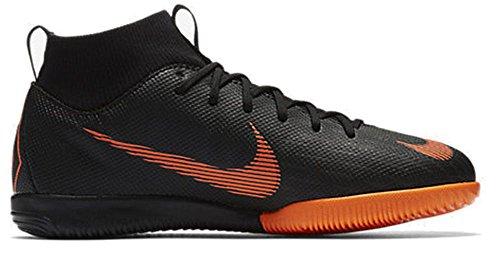 Nike Unisex-Kinder Jr. MercurialX Superfly VI Academy Fußballschuhe Schwarz (Black/Total Orange-W 081)