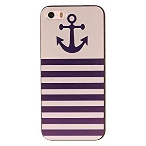 ZXSPACE Anchor and Stripe Design PC Hard Case for iPhone 5/5S