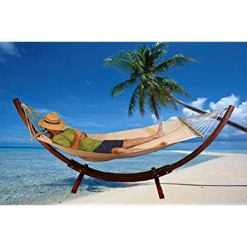 wooden hammock stand combo curved standalone