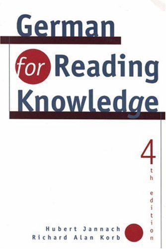 German for Reading Knowledge by Hubert Jannach (1997-07-11)
