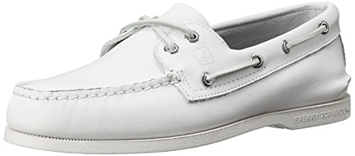 Sperry A/O 2-Eye Leather 0195214 - Mocasines de cuero para hombre Blanco