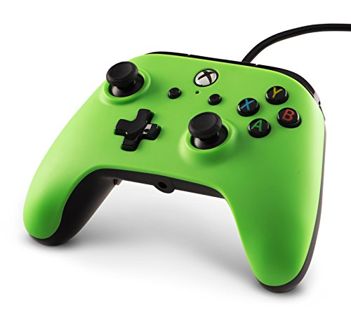 41j1DBD00BL - PowerA Enhanced Wired Controller for Xbox One - Green - Xbox One