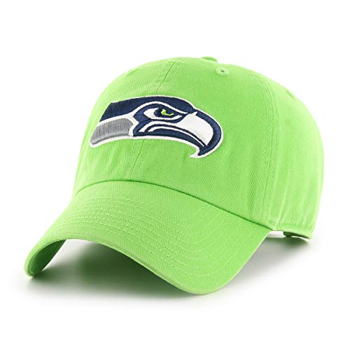 NFL Seattle Seahawks Male OTS Challenger Adjustable Hat, Lime, One Size