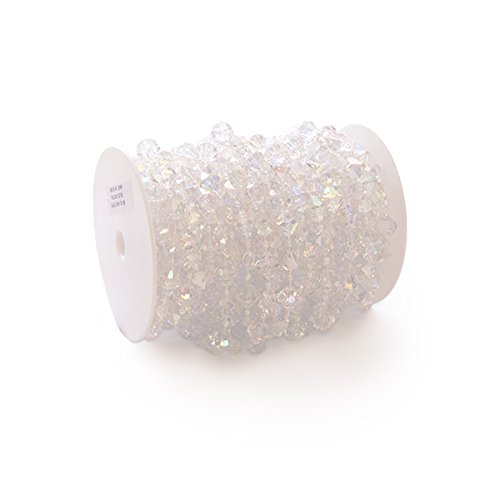 - Event Decor Direct Large Gemstone Iridescent Crystal Bead Strand - 60ft. Roll