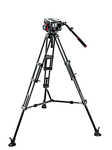 Manfrotto 509HD Video Head with 545B Tripod Legs and Mid-Level Spreader by Manfrotto