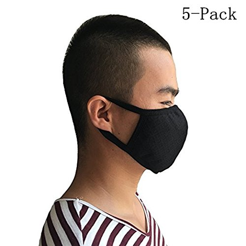5Pcs-Mens-new-Cool-black-Fashion-mask-dust-and-pm25-of-Activated-carbon-mask-stereo-mask