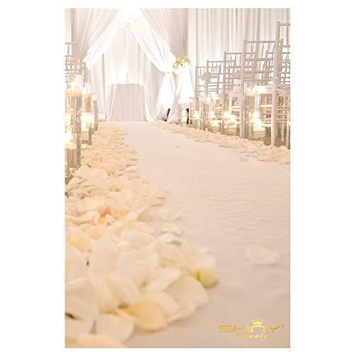 Sequin Aisles Floor Runner-4FTX15FT Wedding Aisle Runner (4FTX15FT, White) ()