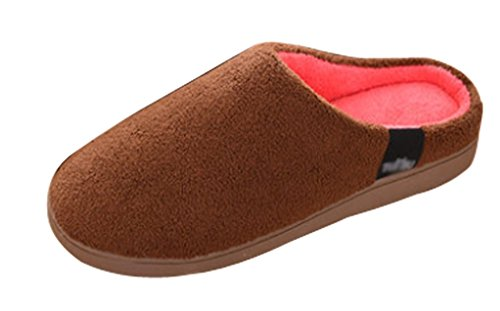 Cattior Mens Solid Thick Sole Soft Comfy Spa Slippers House Slippers Coffee hSWyq1