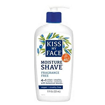 Kiss My Face Moisture Shave 11oz Fragrance Free 4-In-1 Pump (2 Pack)