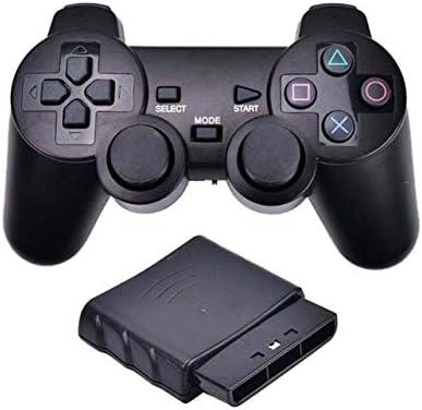 XIWAN For Mando inalámbrico Bluetooth Sony PS2 Gamepad for Play Station 2 Joystick for Consola de Dualshock 2 Color Transparente (Color : A)