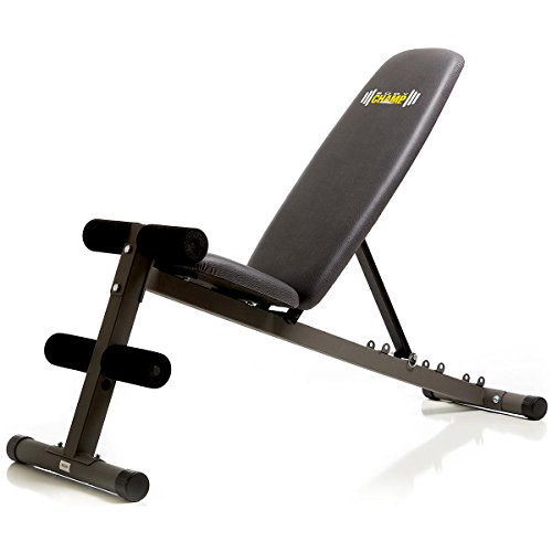 Body Champ 5 Position Adjustable Utility Weight Bench Flat/Incline / Decline FID/Multi function Strength Training by Body Champ