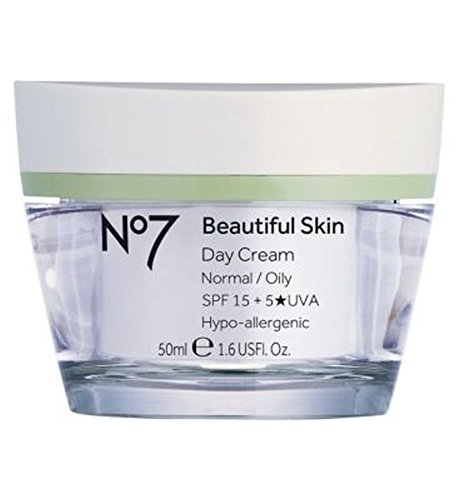 ノーマル/オイリースキンSpf 15 50ミリリットルのためNo7美肌デイクリーム (No7) (x2) - No7 Beautiful Skin Day Cream for Normal / Oily Skin SPF 15 50ml (Pack of 2) [並行輸入品]   B01N3S9DND