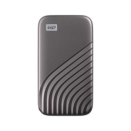 WD WDBAGF5000AGY 500GB My Passport Draagbare Ssd Met NVMe-Technologie, USB-C, Leessnelheden Tot 1050 MB/s En…