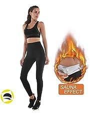 NHEIMA Legging Anti Cellulite, Pantalon de Sudation, Legging Femmes Taille Haute avec Nanotechnologie pour Tonifier des Cuisses et Obtenir Un Ventre Plat Pendant Yoga/Jogging/Pilates/Fitness