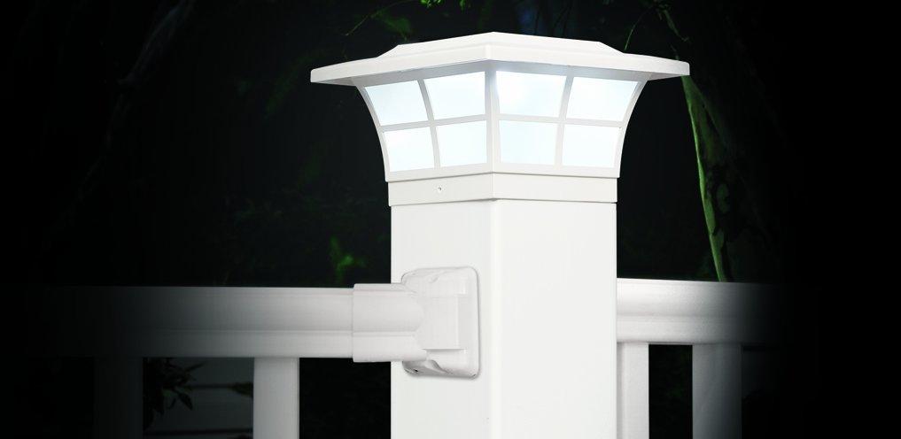 Set of 6 Classy Caps PVC PRESTIGE SOLAR POST CAP 4x4 SL079W white