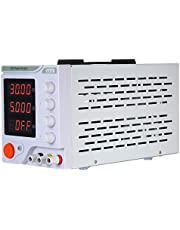 Festnight DC Regulated Power Supply Switching Power 4 Digits Display LED 0-30V 0-5A High Precision Adjustable Mini Power Supply DC Power Supply