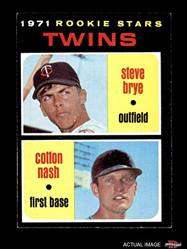 (1971 Topps # 391 Twins Rookies Cotton Nash / Steve Brye Minnesota Twins (Baseball Card) Dean's Cards 5 - EX Twins)