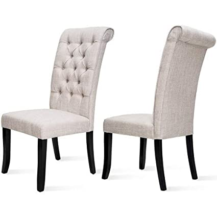 Astounding Amazon Com Dining Chair With Tufted Arm Living Lounge Room Machost Co Dining Chair Design Ideas Machostcouk