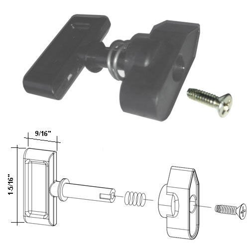 Shower Door Travel Latch Assembly for Hinged and Pivot Shower Door -