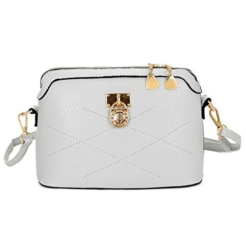 Bovake - Bolso mochila  de Piel para mujer gris