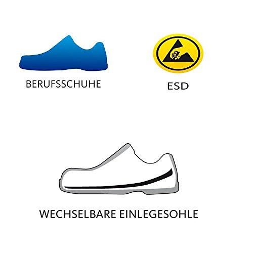 Schürr Herren OP-Schuhe, perforierte Sandalen Cham Schwarz