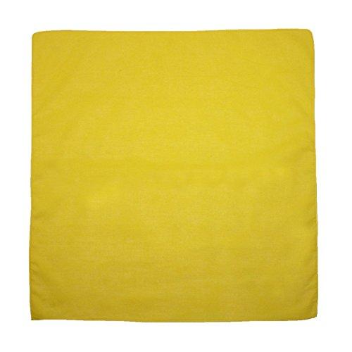 (CTM Cotton Solid Color Bandanas, Bright Yellow)