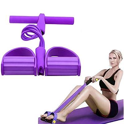 Multifonctionnelles de Résistance, Mise à Niveau 4 Tubes Exerciseur Multifonction Jambe,Sit-up Bodybuilding Expander…