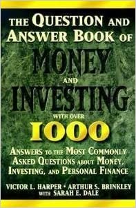 Book Question and Answer Book of Money and Investing by Victor L. Harper (1995-07-03)