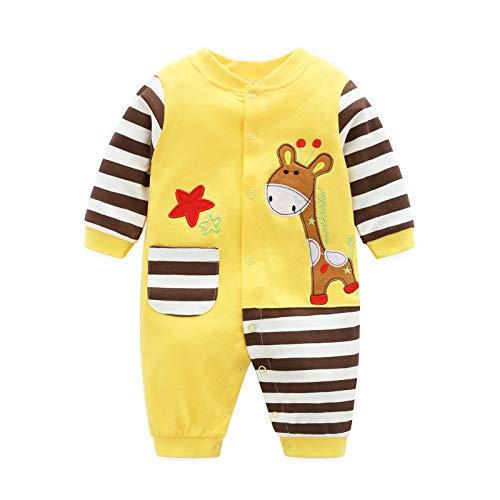 ProtecTauri kinderromperset kleding jongens meisjes baby pyjama overall lange mouwen voor 0-12 maanden
