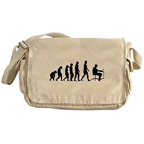 Cheap  CafePress - Office Evolution - Unique Messenger Bag, Canvas Courier Bag