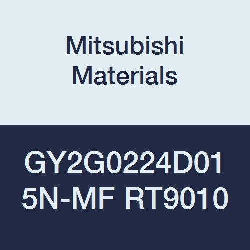 0.088 Grooving Width Mitsubishi Materials GY2G0224D015N-MF RT9010 Series GY Carbide Grooving Insert for Multifunctional and Finishing 2 Teeth 0.006 Corner Radius D Seat Pack of 10