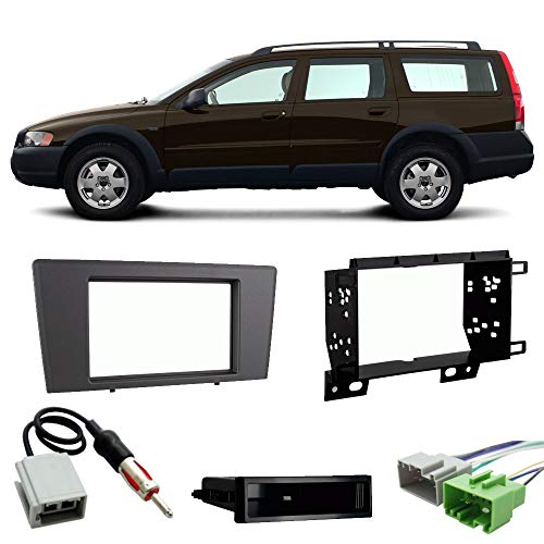 (Fits Volvo XC70 2003-2004 Single or Double DIN Stereo Harness Radio Install Dash Kit)
