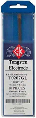 CK T0207GL 1.5/% Lanthanated Tungsten Electrode .020 X 7 Pack of 10