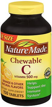 Nature Made Vitamin C 500 mg Chewable Tablets 150 ea (Pack of 5)