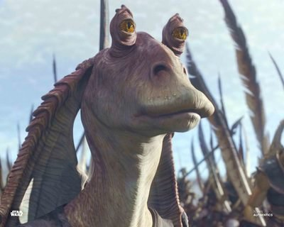 Star Wars Authentics: Ahmed Best as Jar Jar Binks in 'Star Wars: The Phantom Menace' 8x10 Photo