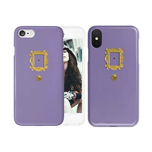 New Friends Tv Show Purple Door Gold Frame Peephole Phone Case | iPhone 6 6s 6+ 7 7+ 8 8+ X XS XR Max (iPhone X/XS)