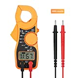 Digital clamp meter, Jellas digital multimeter clamp meter TRMS 2000 counts with AC/DC Voltmeter , AC 400 AMPS , Diode and Resistance Test Tester