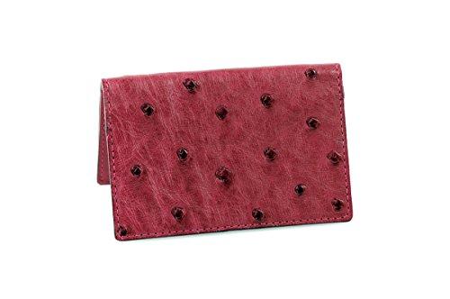 - Ostrich Business Card Case (Vino Rosso)