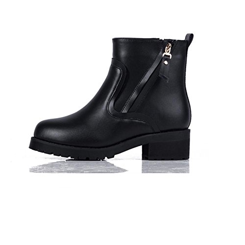Ladies Short Boots Winter Big size Shoes, 36, black