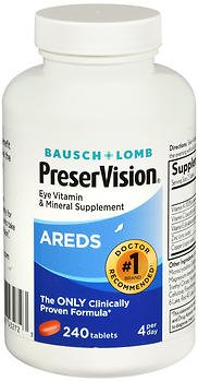 Bausch + Lomb PreserVision Tablets - 240 ct, Pack of 5