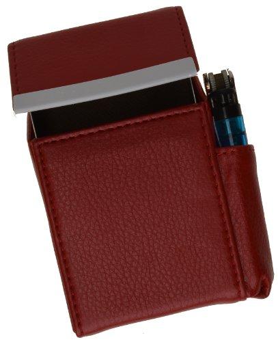 New Marshal Genuine Cigarette Case Holder#92812 (Red) - Lighter Cigarette Style