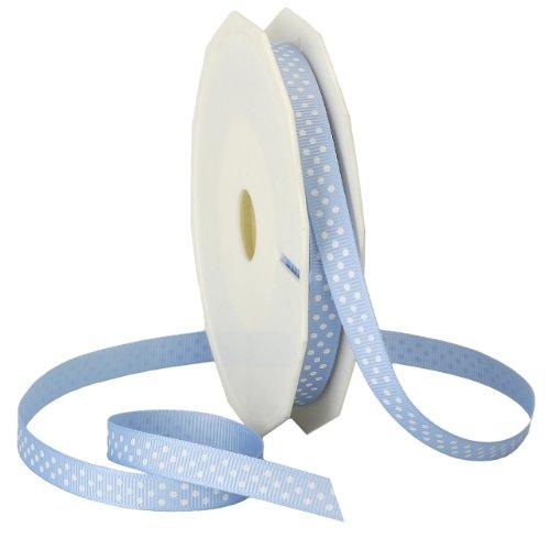 - Morex Swiss Dot Grosgrain Ribbon, 3/8-Inch by 20-Yard Spool, Light Blue
