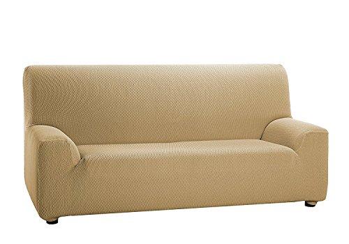 TEXTURAS VIP- Funda de sofá Elástica LOW COST (Varios tamaños disponibles)  (3_Plazas_180_210_cms, Negro)
