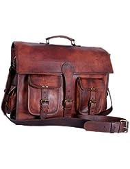 Divine Vintage Leather Flap over Laptop messenger bag office bag school bag