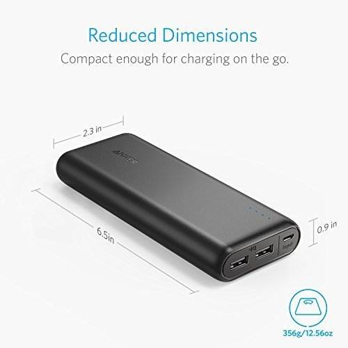 Anker 20000mAh handheld Charger PowerCore 20100 seriously huge Capacity energy Bank by using 48A end product PowerIQ technology for iPhone iPad Samsung Galaxy a lot more Popular selections