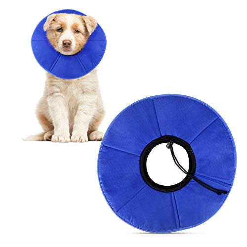 KAOSITONG Soft Pet Recovery Collar for Dogs and Cats - Comfy Elizabethan Collar with Adjustable Strap, Not Block Pets' Vision