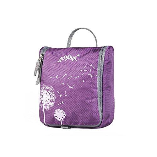 - Ezyoutdoor Woman Toiletry Makeup Kit Bag Cosmetic Handbag Multifunction Makeup Organizer Waterproof Toiletry Bag Travel Cosmetic Bags Hanging Bathroom Toiletry Kit (Purple)