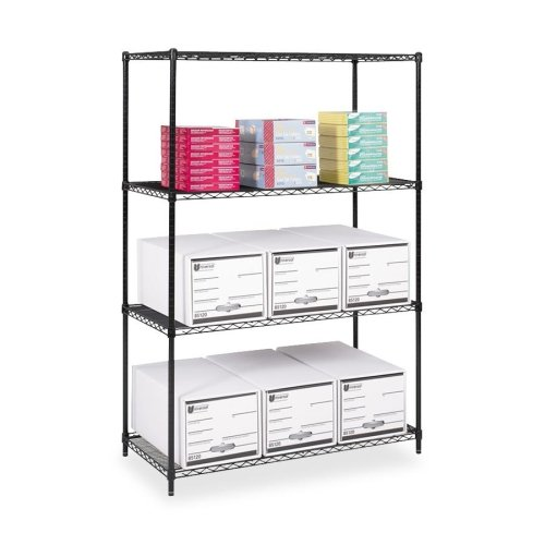 Safco Products 5294BL Industrial Wire Shelving Starter Unit 48