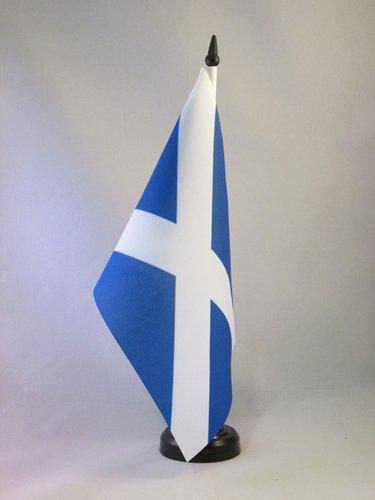 BANDIERA DA TAVOLO SCOZIA 21x14cm - PICCOLA BANDIERINA SCOZZESE 14 x 21 cm - AZ FLAG