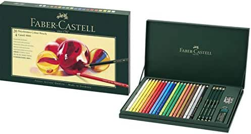 Faber-Castell lápices de colores Set de, Polychromos estuche de regalo: Amazon.es: Oficina y papelería